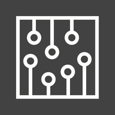 ic: Circuit, ic, processor icon vector image.  Illustration