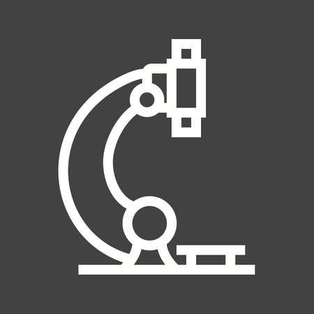 magnification icon: Microscope, science, laboratory icon vector image.  Illustration