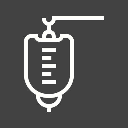 infusion: Bag, drip, blood infusion icon vector image.  Illustration