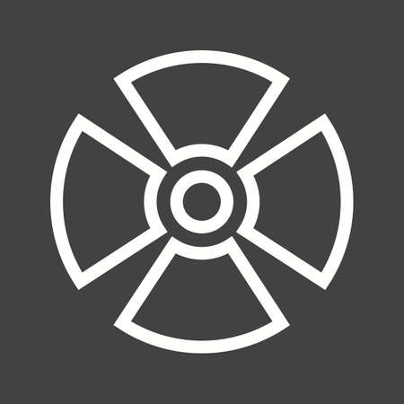 radioactive radiation: Radiation, radioactive, radio therapy icon vector image.