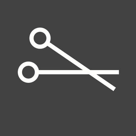 operate: Scissors, cut, scissor, surgical icon vector image.