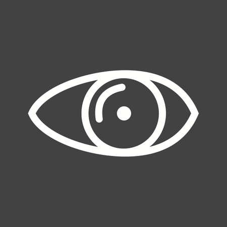 sehkraft: Auge, optische, Sehverm�gen Symbol Vektor-Bild.