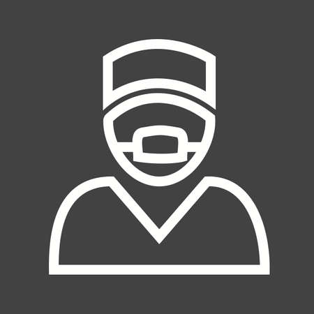 chirurgo: Chirurgo, medico, la chirurgia, icona della maschera immagine vettoriale. Vettoriali