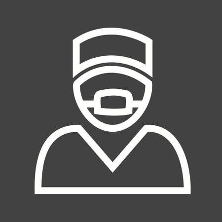 surgeon mask: Cirujano, doctor, cirug�a, icono m�scara de imagen vectorial. Vectores