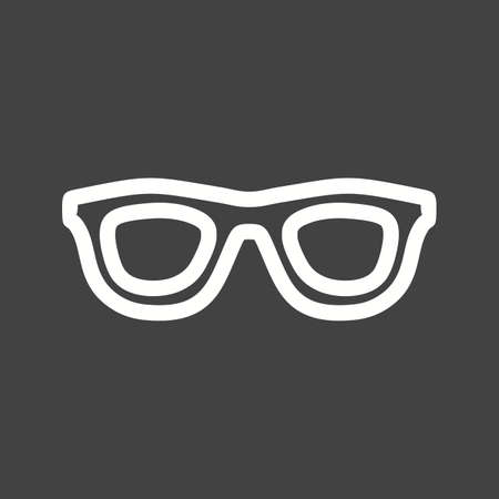 spectacles: Glasses, spectacles, goggles icon vector image.  Illustration