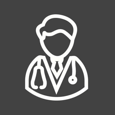 doctor icon: Male doctor, male, doctor icon vector image.