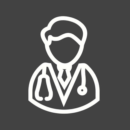Male doctor, male, doctor icon vector image.