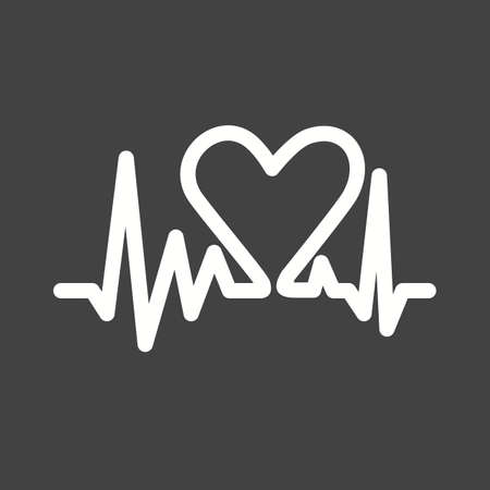 Heart beat, heart, ecg icon vector image.