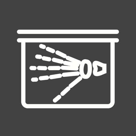 finger bones: X-ray, ray, hand, skeleton icon vector image.
