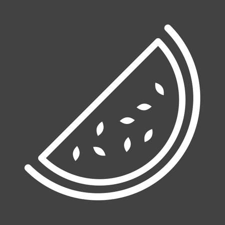 watermelon slice: Watermelon, slice icon vector image. Can also be used for eatables, food and drinks. Suitable for use on web apps, mobile apps and print media