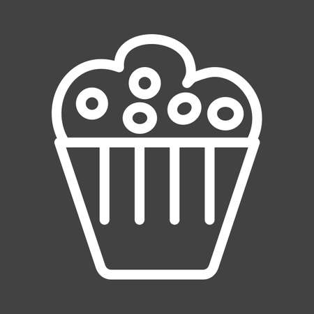Muffin, pastry, sweet icon vector image. Can also be used for eatables, food and drinks. Suitable for use on web apps, mobile apps and print media Illusztráció