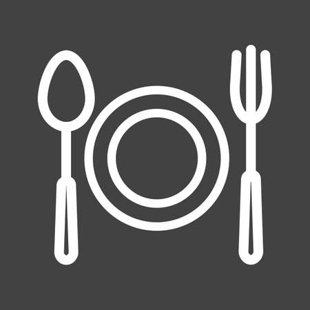 Fork, spoon, cuttlery icon vector image. Can also be used for eatables, food and drinks. Suitable for use on web apps, mobile apps and print media