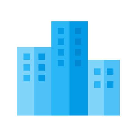 콘도: Apartments, building, residential icon vector image. Can also be used for real estate, property, land and buildings. Suitable for mobile apps, web apps and print media.