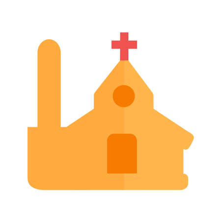 church bell: Church, christian, building icon vector image. Can also be used for real estate, property, land and buildings. Suitable for mobile apps, web apps and print media.