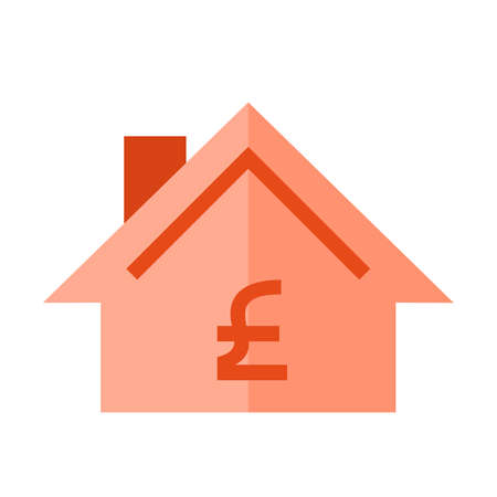 uk money: Pound, money, uk icon vector image. Can also be used for real estate, property, land and buildings. Suitable for mobile apps, web apps and print media. Illustration