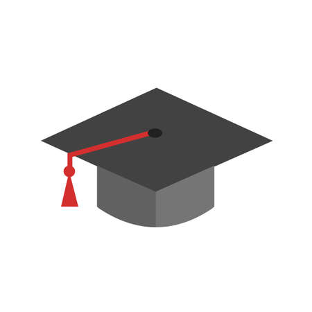 convocation: Graduation, hat, celebration, get- together icon vector image. Can also be used for education, academics and science. Suitable for use on web apps, mobile apps and print media.
