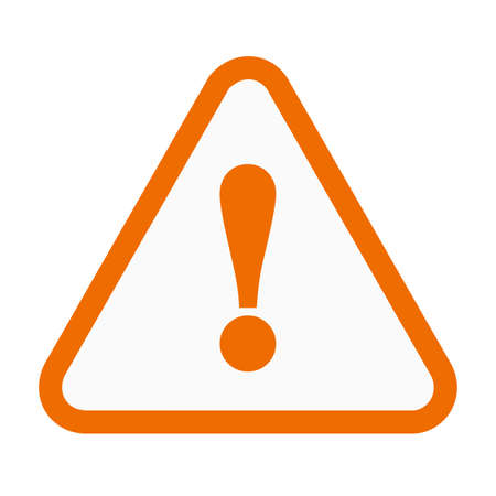 Wanrning, sign, warning sign icon vector image. Can also be used for construction, interiors and building. Suitable for use on web apps, mobile apps and print media. Vectores