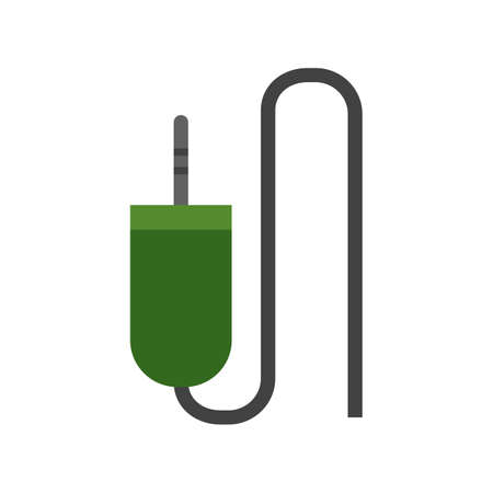aux: Sound cable, audio plug, cord icon vector image. Can also be used for computer and hardware. Suitable for use on web apps, mobile apps and print media. Illustration