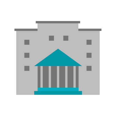 institute: Institute, building, conference icon vector image. Can also be used for education, academics and science. Suitable for use on web apps, mobile apps and print media.