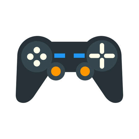 joy pad: Games, video games, d pad icon vector image. Can also be used for mobile apps, phone tab bar and settings. Suitable for use on web apps, mobile apps and print media