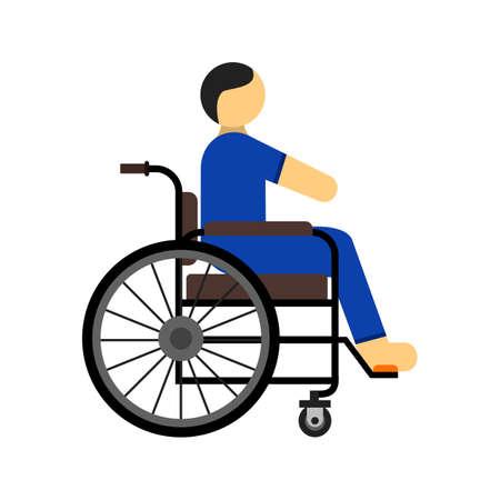 Behinderte Person, Symbol Vektor-Bild zu lähmen. Kann auch für das Gesundheitswesen und die medizinische verwendet werden. Geeignet für mobile Anwendungen, Web-Anwendungen und Printmedien.