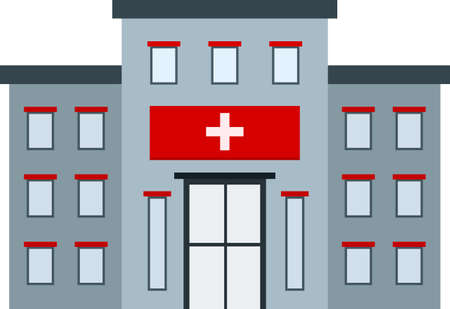 health facility: Hospital, building, clinic icon vector image. Can also be used for healthcare and medical. Suitable for mobile apps, web apps and print media.