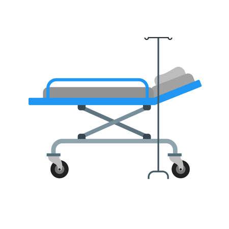 cama hospital: Cama de hospital, cama, imagen de icono de vector habitaci�n. Tambi�n se puede utilizar para la asistencia sanitaria y m�dica. Adecuado para aplicaciones m�viles, aplicaciones web y medios impresos. Vectores