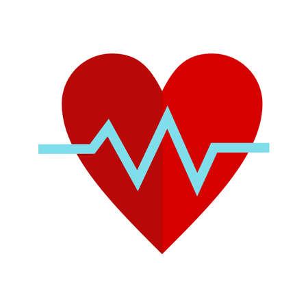 心拍、心拍、心電図のアイコン ベクトル画像。ヘルスケアおよび医療にも使用できます。携帯アプリ、web アプリ、印刷メディアに適しています。  イラスト・ベクター素材