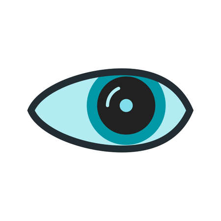 Eye, optical, eyesight icon vector image. Can also be used for healthcare and medical. Suitable for web apps, mobile apps and print media.