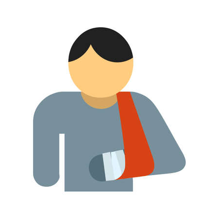 bandaged: Bandaged person, bandage, patient icon vector image. Can also be used for healthcare and medical. Suitable for mobile apps, web apps and print media.