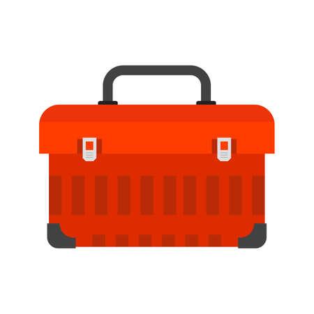Toolbox, kit, toolkit pictogram vector afbeelding. Kan ook worden gebruikt voor de bouw, inrichting en bouw. Geschikt voor gebruik op het web apps, mobiele apps en gedrukte media.