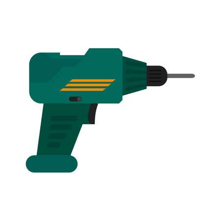 Boor, boormachine, jackhammer pictogram vector afbeelding. Kan ook worden gebruikt voor de bouw, inrichting en bouw. Geschikt voor gebruik op het web apps, mobiele apps en gedrukte media.