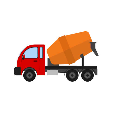 interiors: Mixer, vehicle, truck icon vector image. Can also be used for construction, interiors and building. Suitable for use on web apps, mobile apps and print media. Illustration