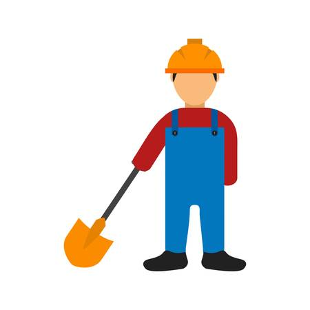 skilled labour: Construction worker, labor, mason icon vector image. Can also be used for construction, interiors and building. Suitable for use on web apps, mobile apps and print media.
