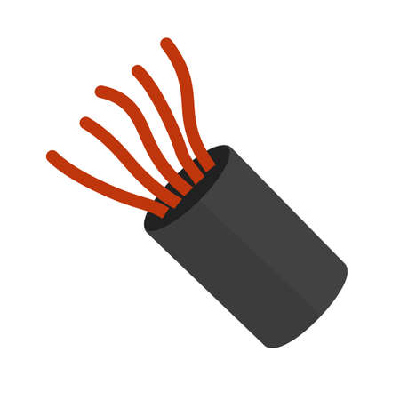 copper wire: Cable, wires, wiring icon vector image. Can also be used for construction, interiors and building. Suitable for use on web apps, mobile apps and print media. Illustration