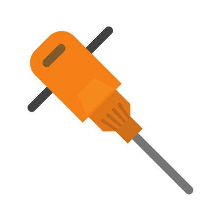 presslufthammer: Hammer, jack, Presslufthammer-Symbol Vektor-Bild. Kann auch f�r den Bau, Innenausstattung und Geb�ude verwendet werden. Geeignet f�r den Einsatz auf Web-Anwendungen, mobile Anwendungen und Printmedien.
