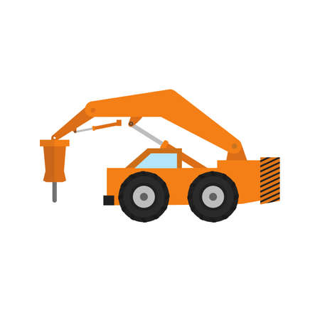 bump: Rock breaker, bump, construction, machinery icon vector image. Can also be used for construction, interiors and building. Suitable for use on web apps, mobile apps and print media. Illustration