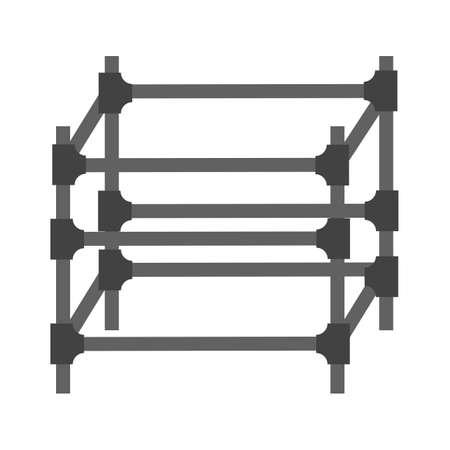 스 캐 폴딩, 철강, 엔지니어링 아이콘 벡터 이미지입니다. 건축, 인테리어 및 건물에도 사용할 수 있습니다. 웹 응용 프로그램, 모바일 응용 프로그램