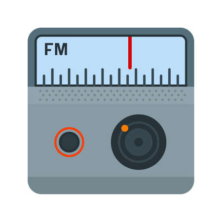 fm: Radio, FM, antenna icon vector image. Can also be used for mobile apps, phone tab bar and settings. Suitable for use on web apps, mobile apps and print media