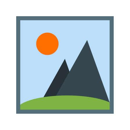 imagen: Galería, foto, icono Imagen vectorial. También se puede utilizar para aplicaciones móviles, barra de pestañas de teléfono y la configuración. Adecuado para su uso en aplicaciones web, aplicaciones móviles y material de impresión
