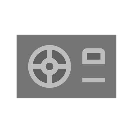 power supply: Power supply, HDMI, computer icon vector image. Can also be used for computer and hardware. Suitable for use on web apps, mobile apps and print media.