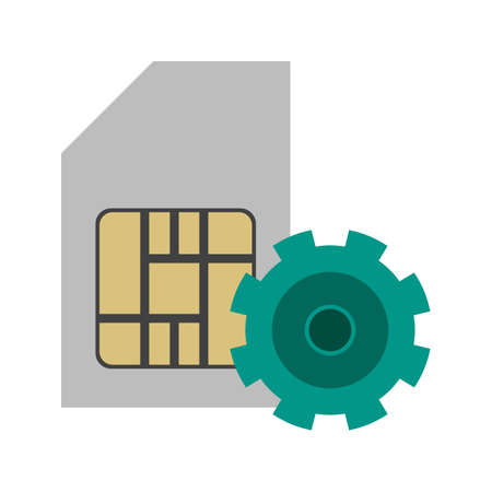 prepaid: SIM, phone, circuit icon vector image. Can also be used for mobile apps, phone tab bar and settings. Suitable for use on web apps, mobile apps and print media