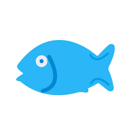 food and drinks: Fish, seafood, fillet icon vector image. Can also be used for eatables, food and drinks. Suitable for use on web apps, mobile apps and print media