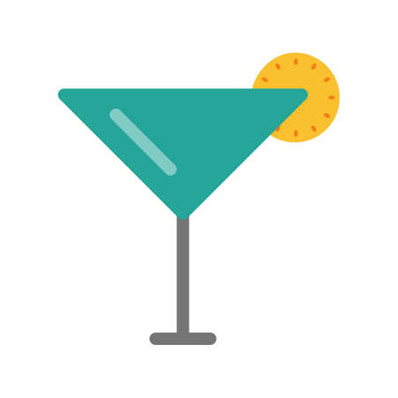 eatables: Cocktail, ice, beverage icon vector image. Can also be used for eatables, food and drinks. Suitable for use on web apps, mobile apps and print media