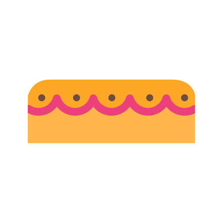 Cake, mince, sweet icon vector image. Can also be used for sweets and confectionery. Suitable for use on web apps, mobile apps and print media.