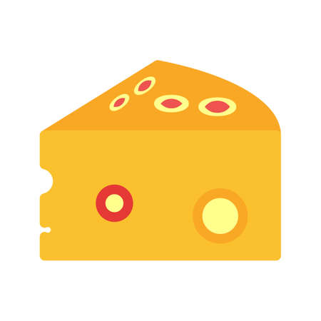 eatables: Cheese, cheddar, appetizer icon vector image. Can also be used for eatables, food and drinks. Suitable for use on web apps, mobile apps and print media
