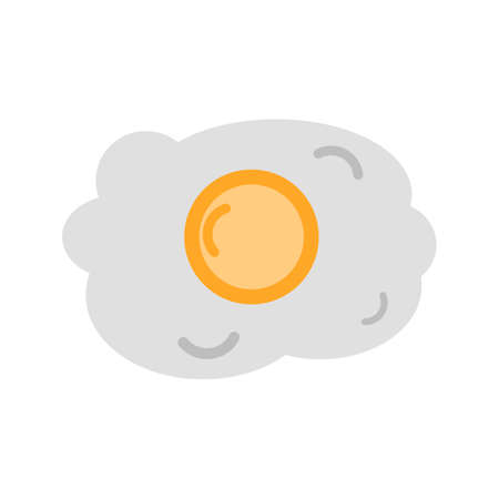 eatables: Egg, fried, omelette icon vector image. Can also be used for eatables, food and drinks. Suitable for use on web apps, mobile apps and print media