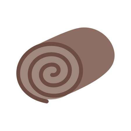 swiss roll: Roll, swiss, cake icon vector image. Can also be used for sweets and confectionery. Suitable for use on web apps, mobile apps and print media.