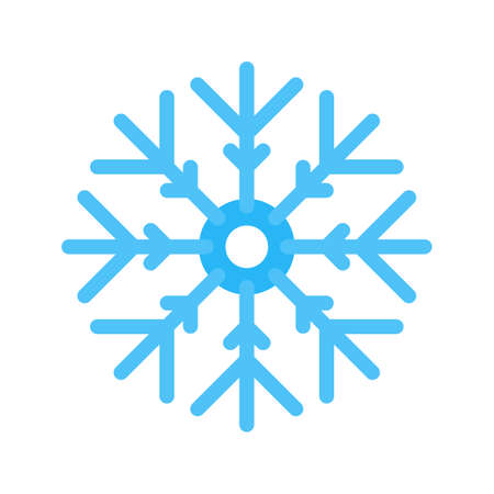 snowfalls: Snowflake, cold, ice icon vector image.Can also be used for christmas, celebrations, observances and holidays. Suitable for use on web apps, mobile apps and print media.