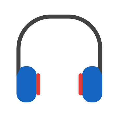 earbud: Headphones, music, computer icon vector image. Can also be used for computer and hardware. Suitable for use on web apps, mobile apps and print media.